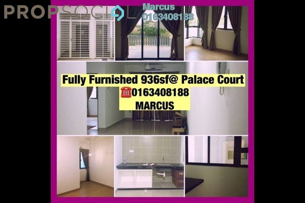 For Rent Condominium at KL Palace Court, Kuchai Lama Leasehold Semi Furnished 2R/2B 1.8k