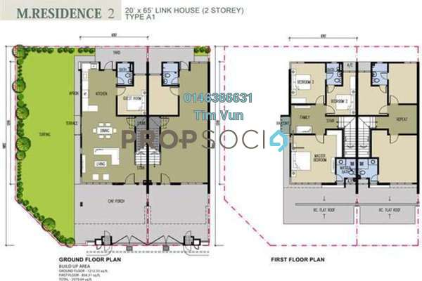 For Sale Terrace at Alpine @ M Residence 2, Rawang Leasehold Unfurnished 4R/3B 465k
