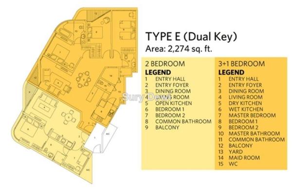 For Sale Condominium at AraGreens Residences, Ara Damansara Freehold Semi Furnished 5R/4B 1.68m