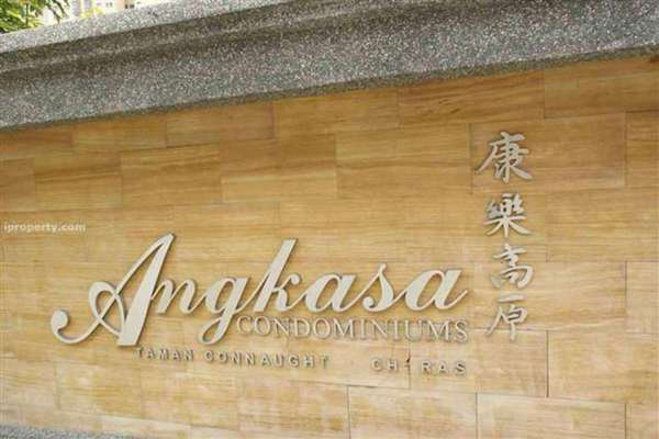 For Rent Condominium at Angkasa Condominiums, Cheras Leasehold Semi Furnished 4R/2B 2.9k