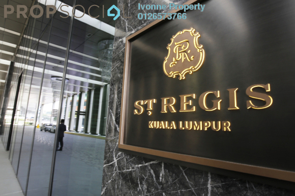 For Sale Condominium at St Regis Residences, KL Sentral Freehold Semi Furnished 1R/2B 4m