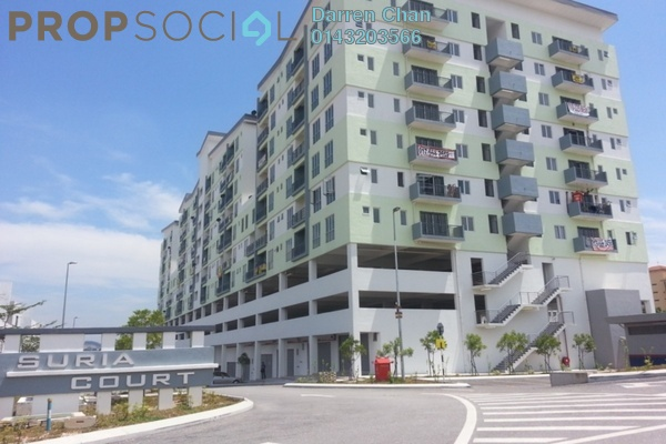 For Rent Apartment at Suria Court, Bandar Mahkota Cheras Freehold Unfurnished 3R/2B 1k