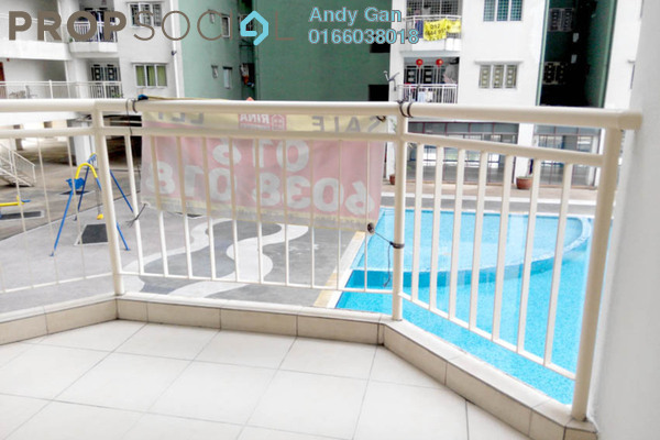 For Rent Condominium at Kepong Central Condominium, Kepong Leasehold Semi Furnished 3R/2B 1.1k