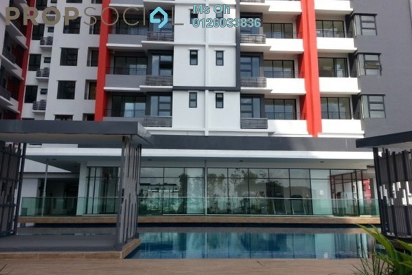 For Rent Condominium at D'Aman Residences, Puchong Leasehold Semi Furnished 3R/2B 1.1k