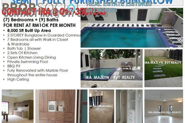 For Rent Bungalow at Taman Ampang Utama, Ampang Leasehold Semi Furnished 7R/9B 11k