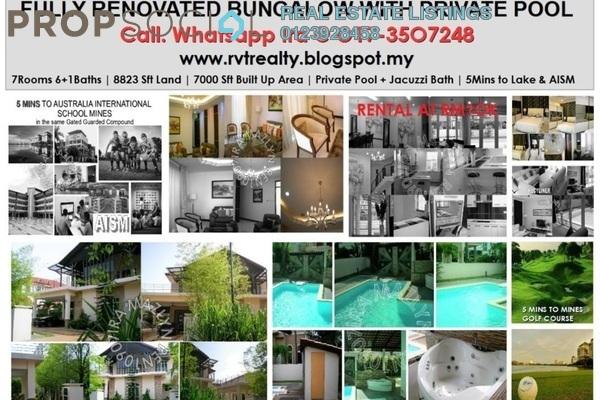 For Rent Bungalow at Bluwater Estate, Seri Kembangan Leasehold Fully Furnished 6R/6B 11k