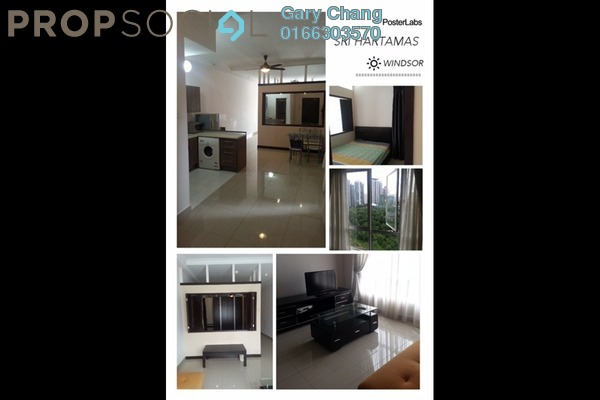 For Rent Condominium at Windsor Tower, Sri Hartamas Freehold Fully Furnished 1R/1B 2.3k