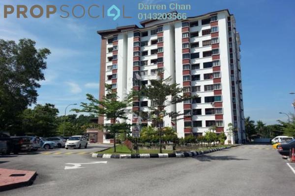 For Rent Apartment at Anggerik Apartment, Kajang Freehold Semi Furnished 3R/2B 1.3k