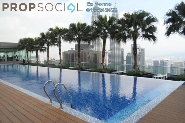 For Sale Condominium at Vipod Suites, KLCC Freehold Fully Furnished 1R/1B 1.27m