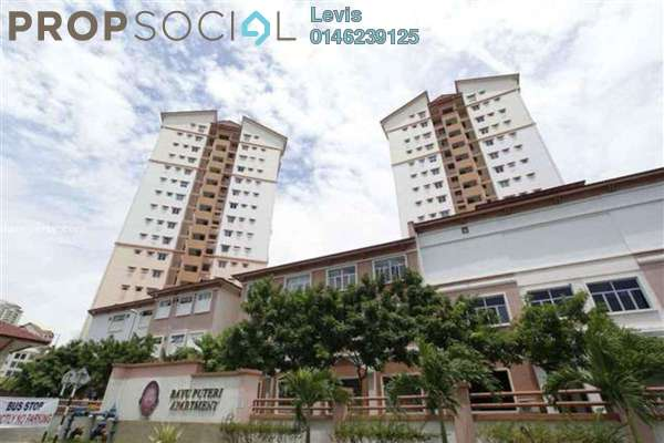 For Rent Condominium at Bayu Puteri, Tropicana Leasehold Fully Furnished 3R/2B 1.4k