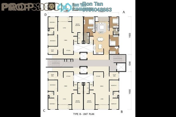 For Sale Condominium at D'Mansion, Gelugor Freehold Unfurnished 3R/2B 1.01m
