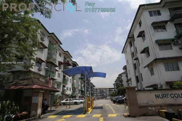 For Rent Apartment at Nuri Court, Pandan Indah Leasehold Unfurnished 3R/2B 1.1k