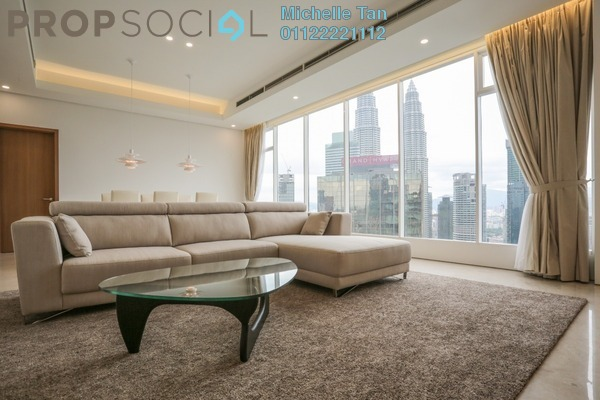 For Rent Condominium at Vipod Suites, KLCC Freehold Fully Furnished 4R/4B 18k