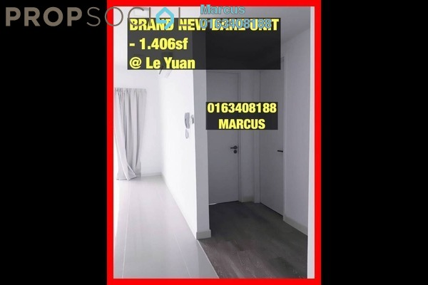 For Sale Condominium at Le Yuan Residence, Kuchai Lama Freehold Unfurnished 3R/2B 880k