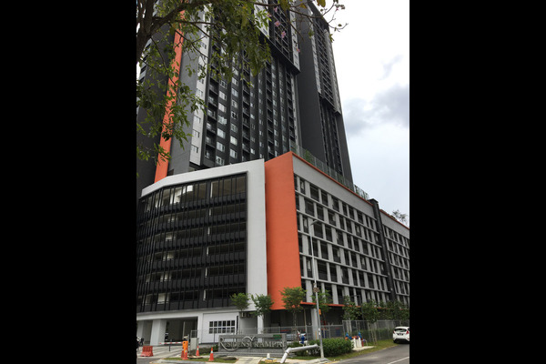 For Rent Condominium at The Parc Tower, Setapak Leasehold Semi Furnished 3R/2B 1.7k
