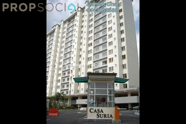 For Rent Apartment at Casa Suria, Batu 9 Cheras Leasehold Semi Furnished 4R/3B 1.1k