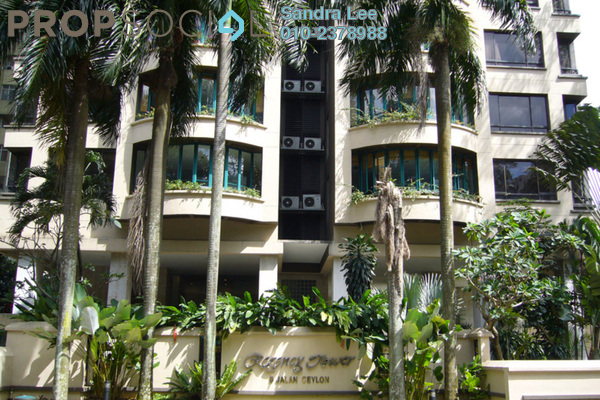 For Rent Condominium at Regency Tower, Bukit Ceylon Freehold Fully Furnished 3R/3B 13k