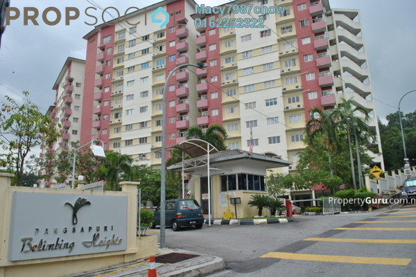 For Rent Condominium at Belimbing Heights, Seri Kembangan Freehold Semi Furnished 3R/2B 1k