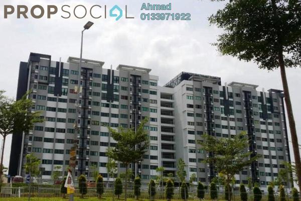 For Sale Apartment at Suria Ixora, Setia Alam Freehold Semi Furnished 3R/2B 279k
