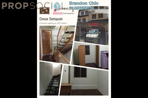 For Rent Terrace at Desa Setapak, Setapak Freehold Semi Furnished 3R/2B 1.35k