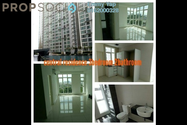 For Rent Condominium at Central Residence, Sungai Besi Freehold Semi Furnished 3R/2B 2.3k