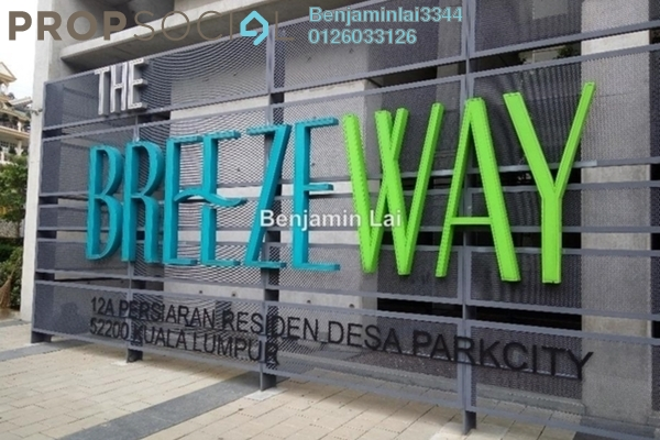For Rent Condominium at The Breezeway, Desa ParkCity Freehold Fully Furnished 2R/2B 4k