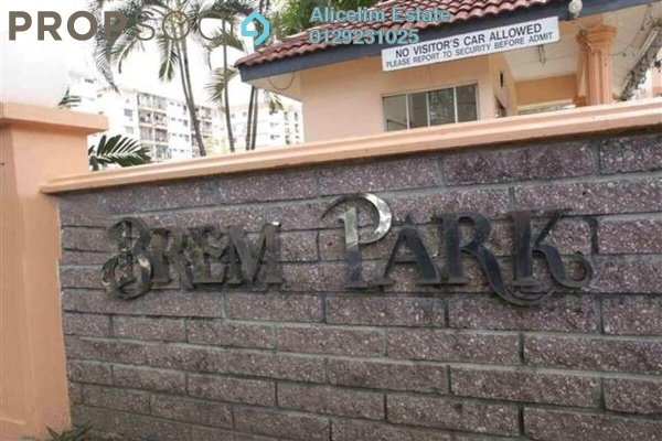 For Sale Apartment at Brem Park, Kuchai Lama Leasehold Semi Furnished 3R/2B 385k
