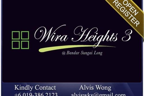 For Sale Semi-Detached at Wira Heights, Bandar Sungai Long Freehold Unfurnished 5R/6B 1.76m