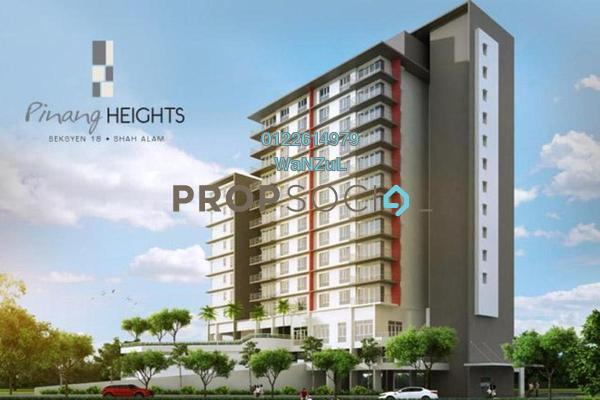 For Sale Condominium at Pinang Heights, Shah Alam Freehold Unfurnished 4R/2B 520k