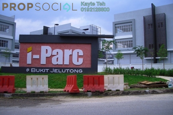 For Rent Factory at i-Parc1, Bukit Jelutong Freehold Unfurnished 0R/1B 12k