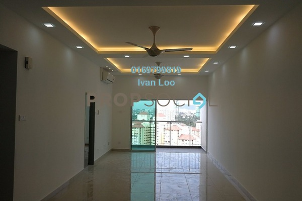 For Rent Condominium at DeSkye Residence, Jalan Ipoh Freehold Semi Furnished 3R/2B 1.6k