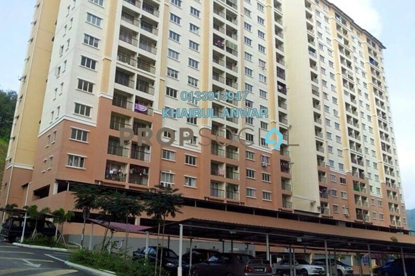 For Sale Apartment at Lakeview Apartment, Batu Caves Leasehold Semi Furnished 3R/2B 270k