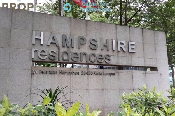 For Rent Condominium at Hampshire Residences, KLCC Freehold Fully Furnished 4R/3B 8.5k