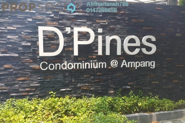 For Sale Condominium at D'Pines, Pandan Indah Leasehold Unfurnished 3R/2B 750k
