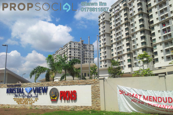 For Rent Condominium at Kristal View, Shah Alam Leasehold Fully Furnished 3R/2B 2.2k