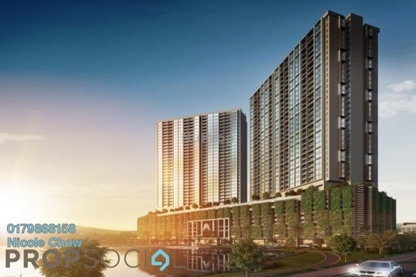 For Sale Serviced Residence at PJS 5, Bandar Sunway Freehold Semi Furnished 2R/1B 336k