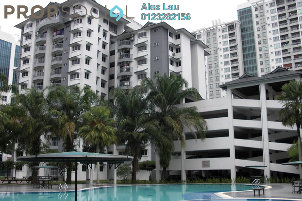 For Rent Condominium at Tiara Kelana, Kelana Jaya Leasehold Fully Furnished 4R/2B 1.8k