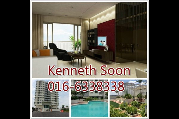 For Rent Condominium at Sutera Maya, Old Klang Road Freehold Semi Furnished 3R/2B 1.5k