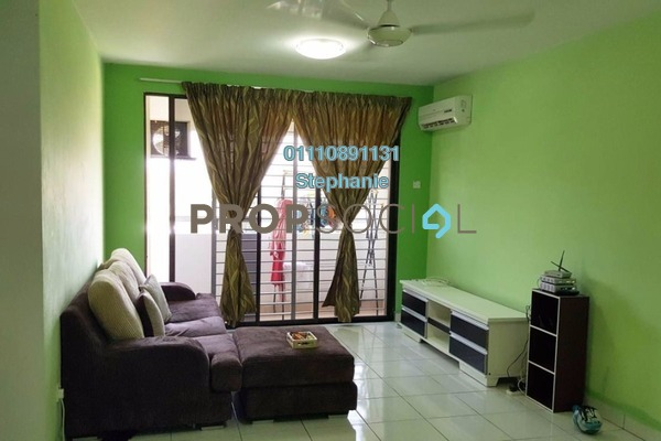 For Rent Condominium at Putra Villa, Gombak Freehold Fully Furnished 3R/2B 1.7k