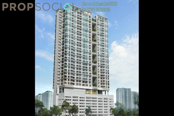 For Sale Serviced Residence at Court 28 @ KL City, Sentul Freehold Unfurnished 3R/3B 493k