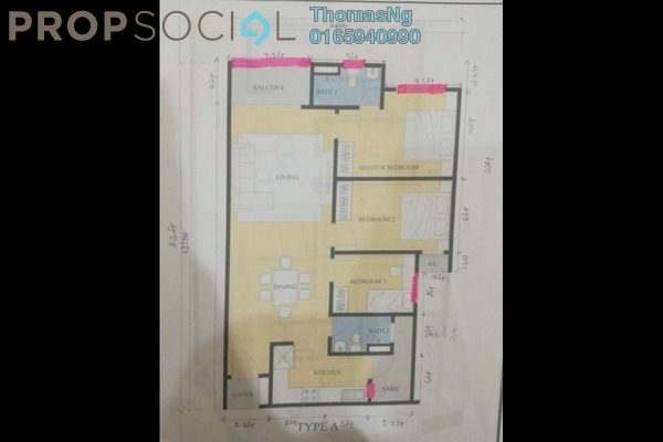 For Sale Condominium at Lavender Residence, Bandar Sungai Long Freehold Unfurnished 3R/2B 489k