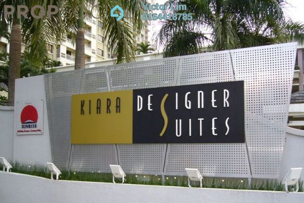 For Sale Condominium at Kiara Designer Suites, Mont Kiara Freehold Fully Furnished 3R/2B 750k