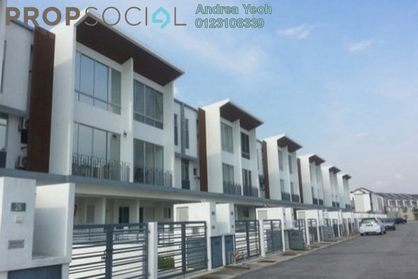 For Rent Townhouse at Cascadia Lake Vista, Puchong Leasehold Semi Furnished 4R/3B 1.3k