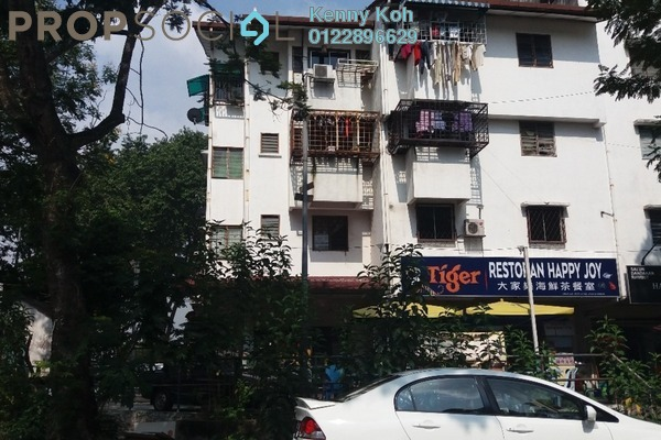 For Sale Apartment at Happy Garden Flat, Kuchai Lama Freehold Unfurnished 3R/2B 260k