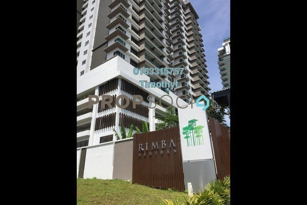 For Rent Condominium at Rimba Residence, Bandar Kinrara Freehold Semi Furnished 3R/3B 1.8k