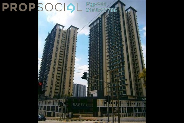 For Rent Condominium at Raffel Tower, Bukit Gambier Freehold Fully Furnished 3R/2B 3k