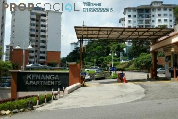 For Rent Apartment at Kenanga Apartment, Pusat Bandar Puchong Freehold Fully Furnished 3R/2B 1.3k