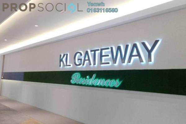 For Rent Condominium at KL Gateway, Bangsar South Leasehold Fully Furnished 2R/2B 2.8k