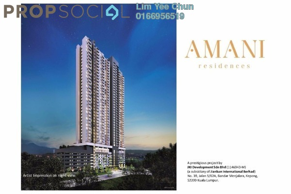 For Sale Apartment at Amani Residences, Bandar Puteri Puchong Freehold Unfurnished 3R/2B 442k