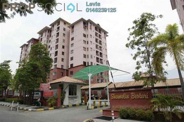 For Rent Condominium at Shamelin Bestari, Cheras Freehold Semi Furnished 3R/2B 1.3k